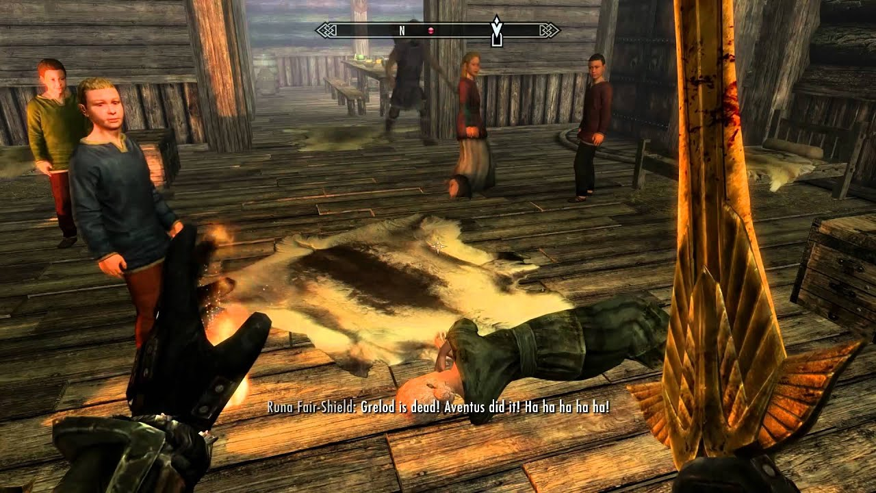 Elder Scrolls V Skyrim Decapitation And Werewolf Gameplay 1080p