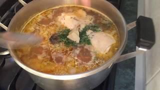 Суп с спиральками - готовить проще , простого !