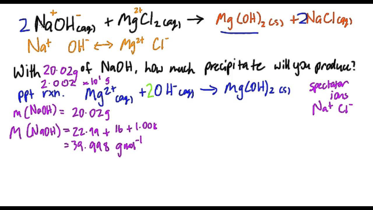 stoichiometry of a precipitation reaction essay Question stoichiometry of a precipitation reaction net weight of na2co3=13g net mass of dry calcium carbonate=9g (show work) find theoretical yield and actual yield of each.