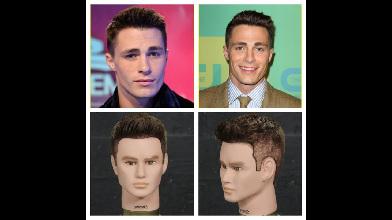 Colton Haynes Haircut Hairstyle Tutorial Youtube