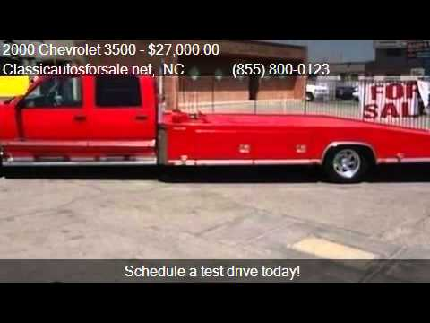 2000 Chevrolet 3500 Car Hauler For Sale In Nationwide Nc 27