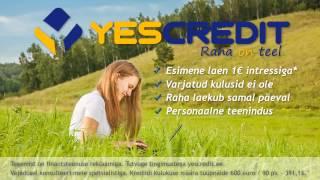 YesCredit Kiirlaen | SMSlaen reklaam(YesCredit Kiirlaen | SMS-laen 1€ kuni 1000 eurot sms raha, kiirlaen., 2014-01-31T09:21:53.000Z)
