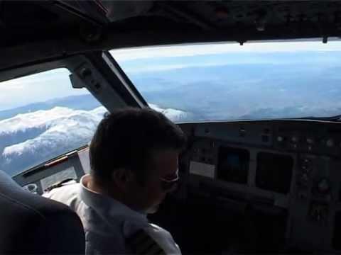 Cockpit flight Thessaloniki- Paris with Cyprus Airways Airbus 319 pt2 (eng sub) route