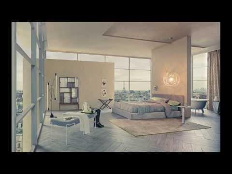 Open plan bedroom and bathroom designs