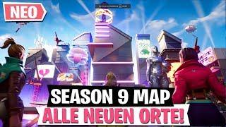 alle neuen orte auf season 9 map fortnite battle royale - fortnite alle verkaufsautomaten season 8