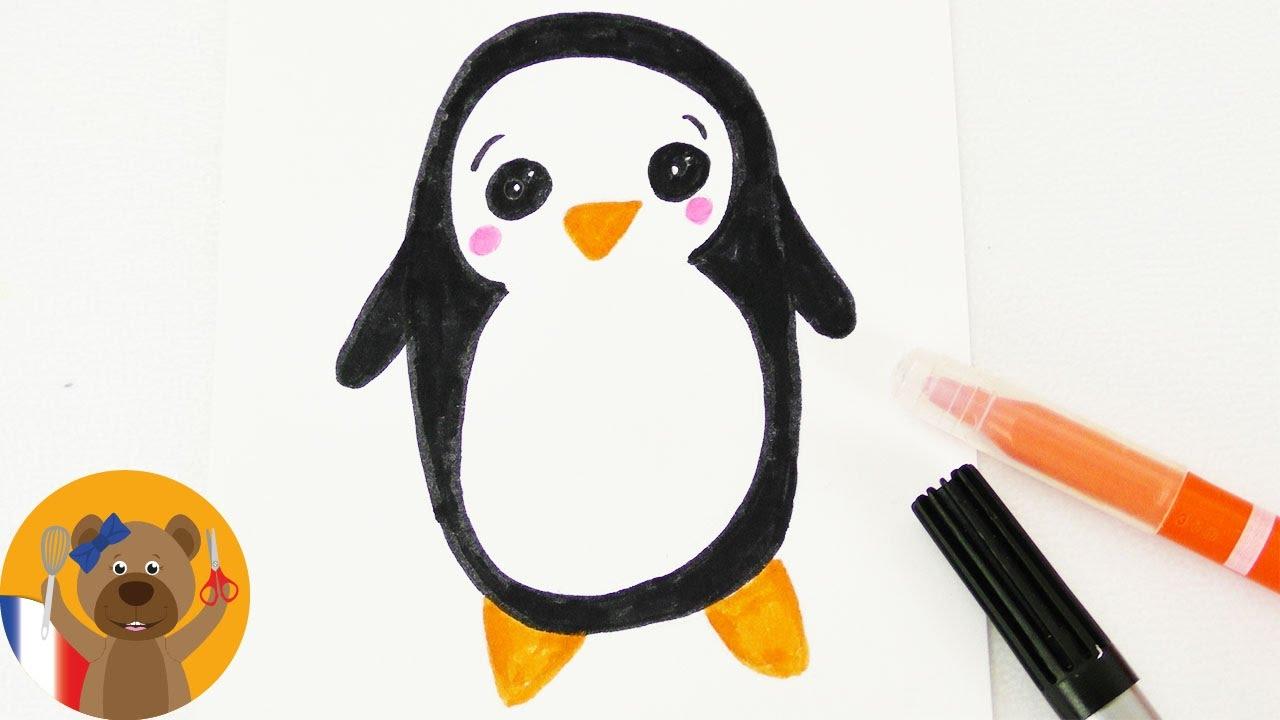 Dessiner un pingouin kawaii soi m me adorable motif d 39 hiver pour carte d 39 anniversaire youtube - Dessiner un paysage d hiver ...
