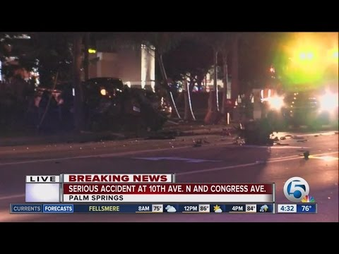 Crash in Palm Springs closes portion of 10th Ave. North