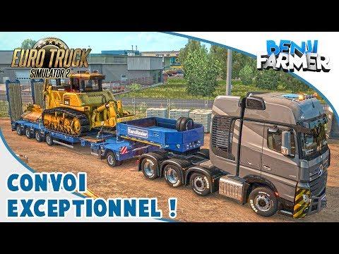 Euro Truck Simulator 2 | Convoi Exceptionnel en Multi ! (Heavy Cargo Pack)