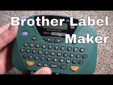 Brother Print Label Maker Pt 65 P Touch Demo Review Youtube