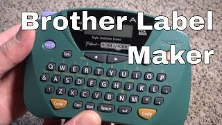 Brother Print Label Maker   PT-65 P-Touch   Demo Review