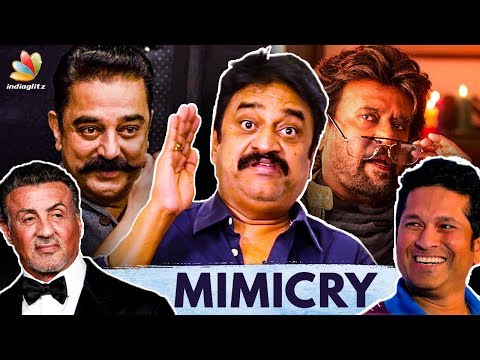 Chinni Jayanth Humorously Mimics Actors | Rajini, Kamal, Sachin | Live Performance, Interview