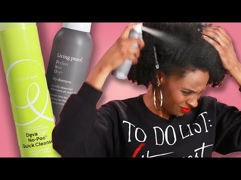 Women With Natural Hair Try Dry Shampoo