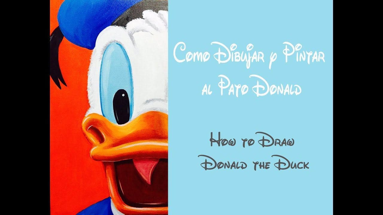 Cmo dibujar y pintar al Pato Donald  How to draw Donald the Duck