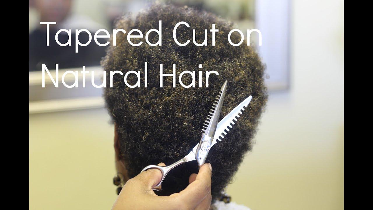 tapered cut natural hair '