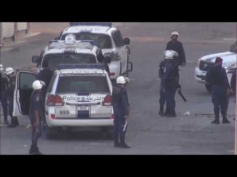 Bahrain : Riot Police Chase and Clash With Protesters in The First Day Of (Nimr Strike)