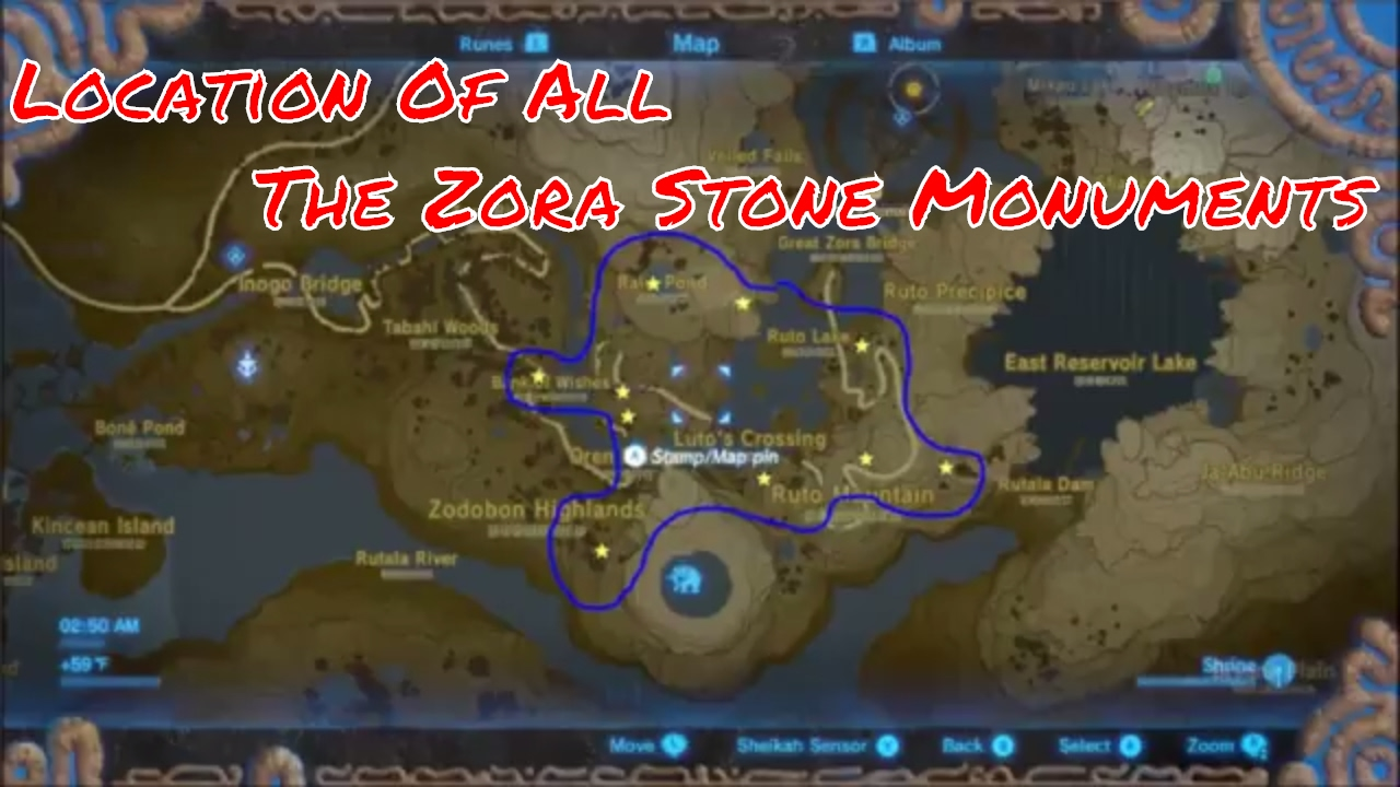 Zelda Breath Of The Wild Zora Stone Monument Side Quest Youtube