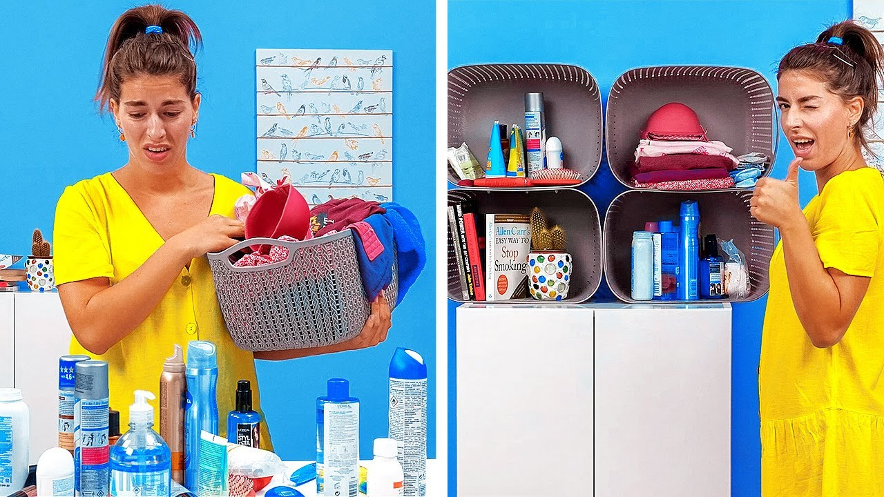 30 SMART IDEAS TO ORGANIZE YOUR SPACE || Cleaning Routine by 5-Minute Recipes!