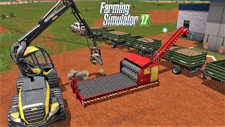 Farming Simulator 17 : [ FORESTRY ] WOOD CHIPPER - Palm Tree