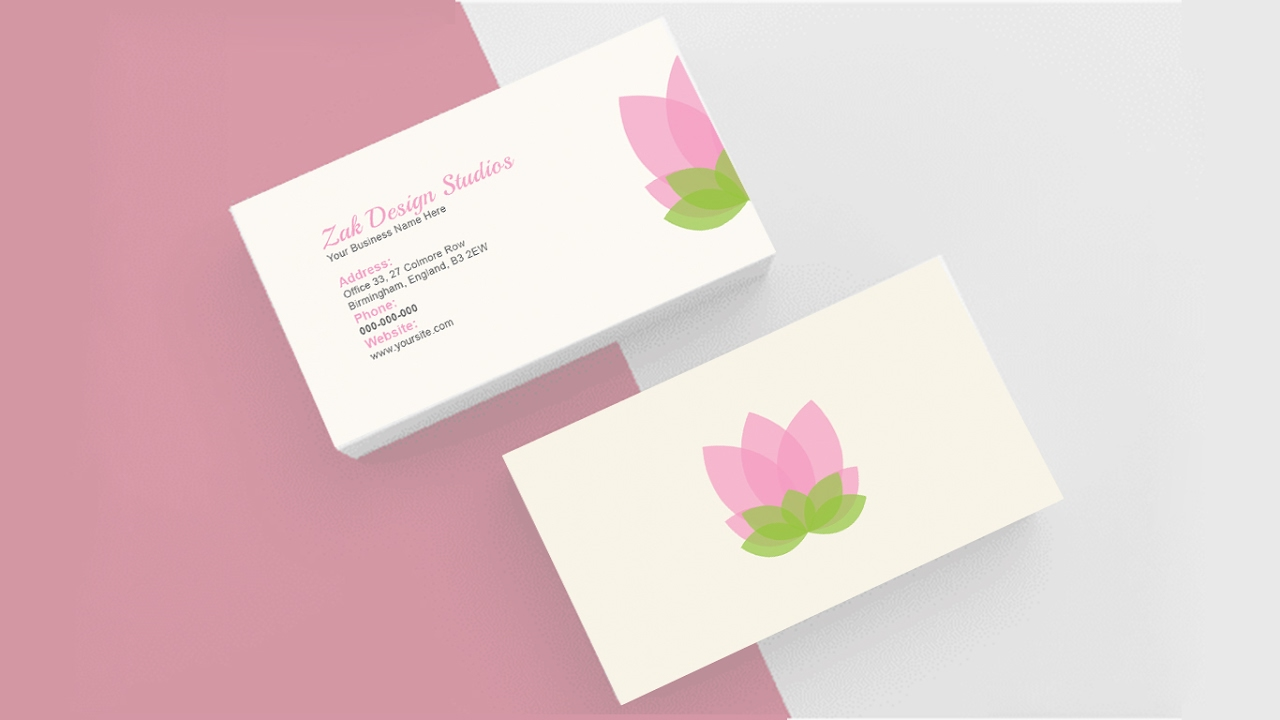 Double Sided Illustrative Look Business Card Design Tutorial In ...