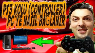 PS3 KOLU PC'YE NASIL BAĞLANIR - HOW TO USE  PS3 CONTROLLER ON  PC