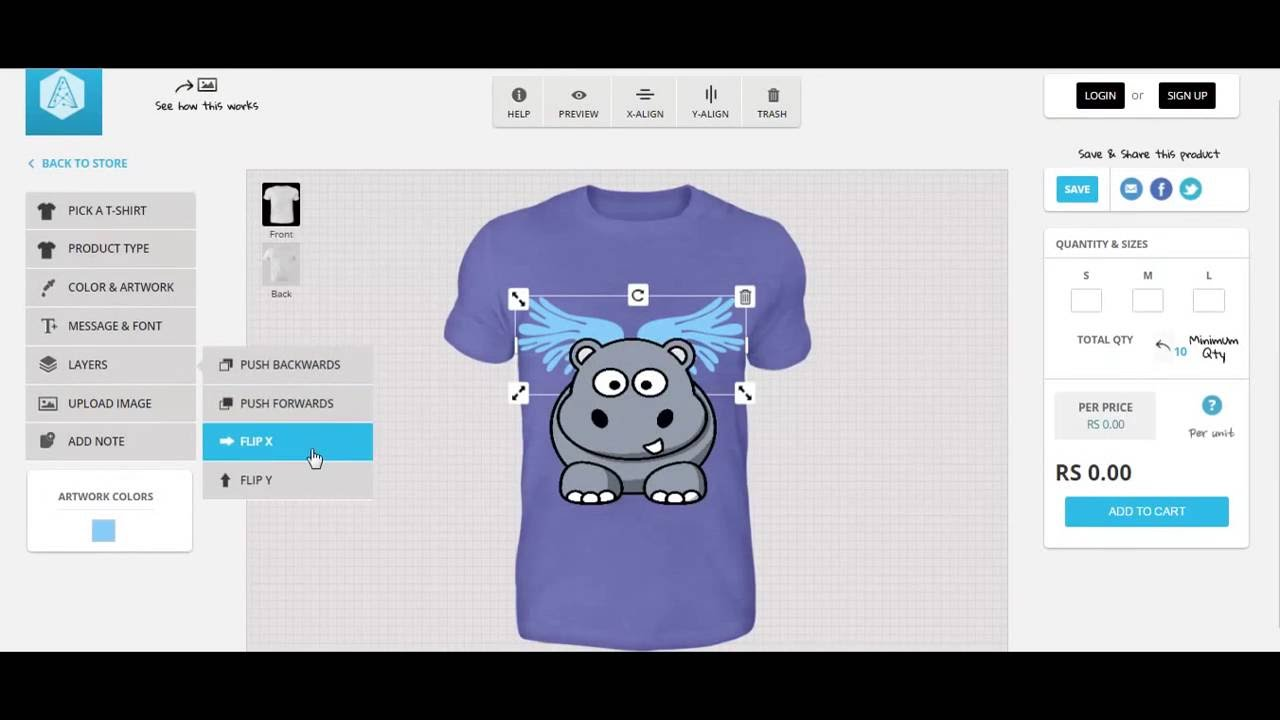 Html5 Online T Shirt Design Tool Appcustomizer Youtube