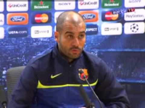 """Guardiola: """"We have to score away goal"""" [30.03.2010]"""