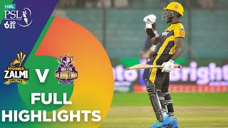 Full Highlights | Quetta Gladiators vs Peshawar Zalmi | Match 8 | HBL PSL 6 | MG2T