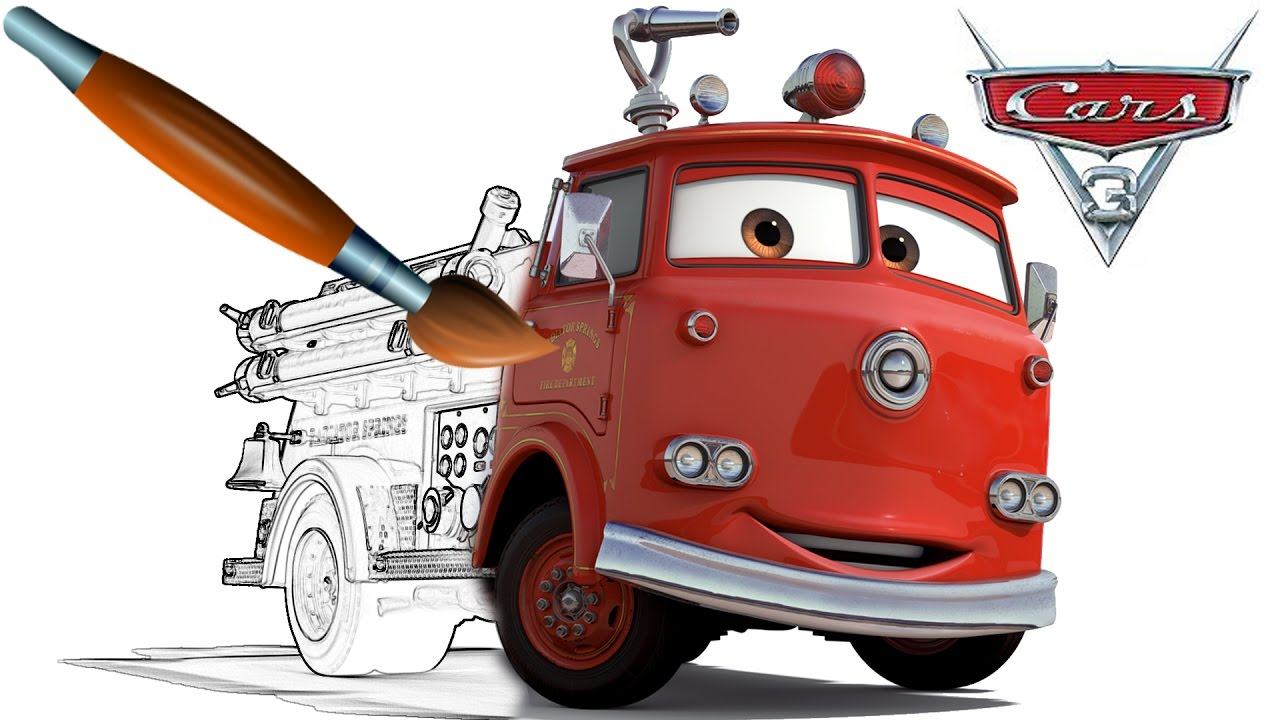 CARS 3 Fire Truck RED