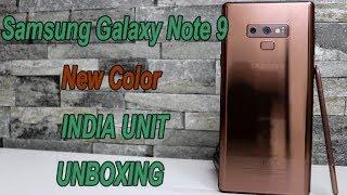 Samsung Galaxy Note 9 (Mattlic Coper) INDIA Unit Unboxing & Review !! HINDI