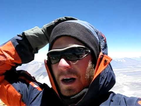 Zigeiner on top of Ojos del Salado (6896m) - highest peak in Chile