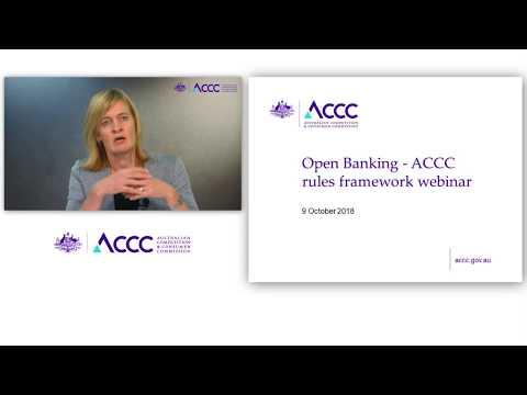 Open Banking  - ACCC rules framework webinar