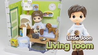 [장난감 놀이] 리틀 준의 거실(리틀 미미) Little Joon Living Room Review - Pretty doll toys play for kids