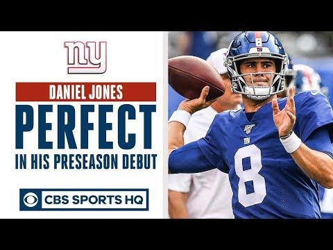 Daniel Jones PERFECT in preseason debut   QB battle in NY?   CBS Sports HQ
