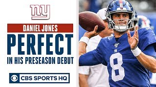 Daniel Jones PERFECT in preseason debut | QB battle in NY? | CBS Sports HQ