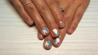 Дизайн ногтей гель-лак Shellac - роспись ногтей (уроки дизайна ногтей nail art design tutorial)
