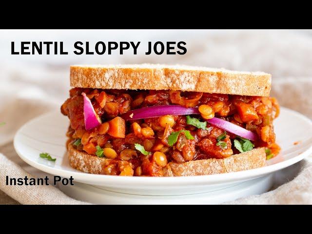 VEGAN LENTIL SLOPPY JOES  - Instant Pot, Saucepan option, No Oil | Vegan Richa Recipes