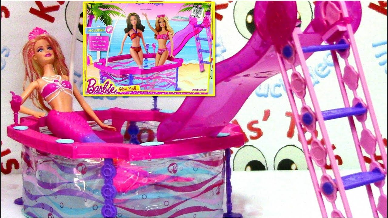 Barbie Glam Pool With Barbie The Pearl Princess Doll Youtube