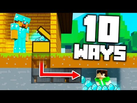 10 Ways to Steal Your Friends DIAMONDS in Minecraft!