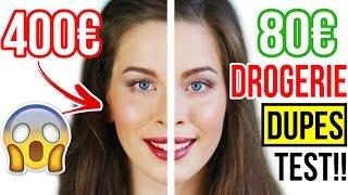 GÜNSTIG vs. TEUER: DROGERIE DUPES im LIVE TEST vs. HIGH-END MAKEUP BEAUTY PRODUKTE