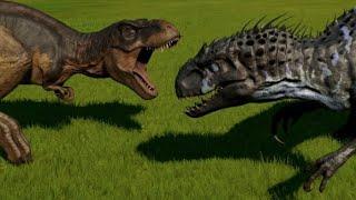 Indominus Rex vs T-Rex, Spinosaurus, Spinoraptor, Indoraptor, Giganotosaurus, Carcha & Allosaurus Mp3