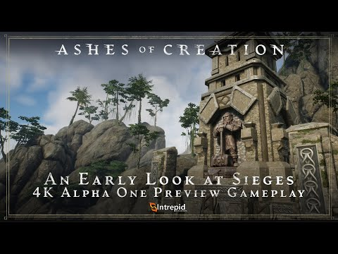 Ashes of Creation  Early Siege Gameplay in 4K