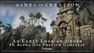 Ashes of Creation - Early Siege Gameplay in 4K