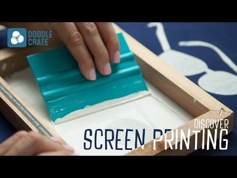 Discover Screen Printing With Doodle Crate Youtube