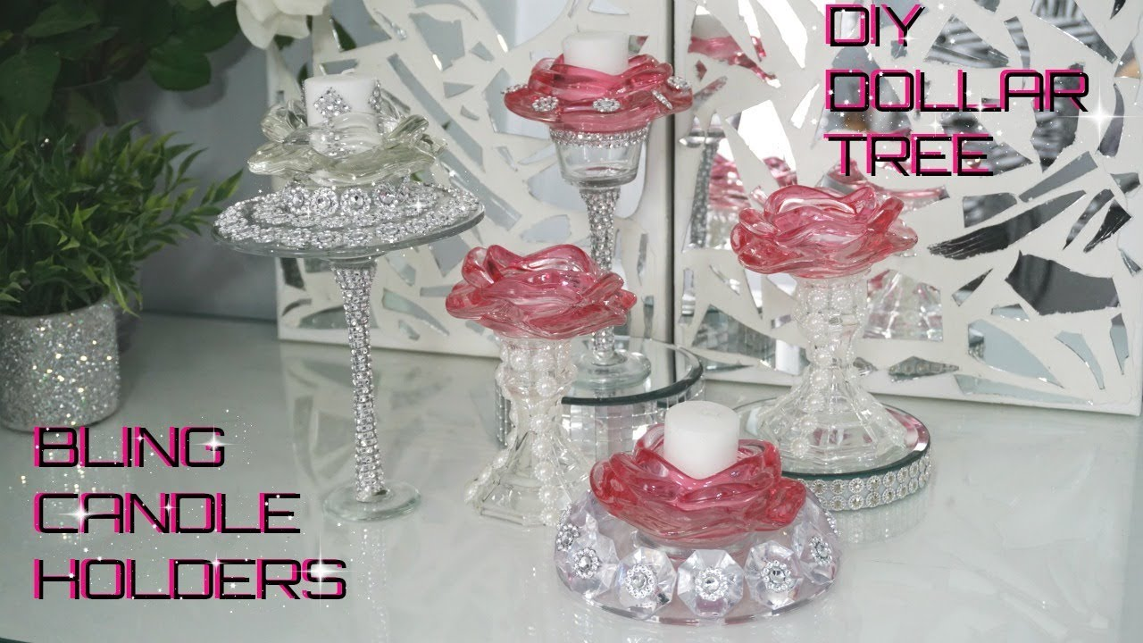 BLING GLAM CANDLE HOLDERS