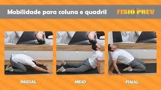 Costas mobilidade quadril e das de exercícios