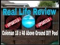 Real Review: Coleman 18 x 48 above ground DIY pool UPDATED