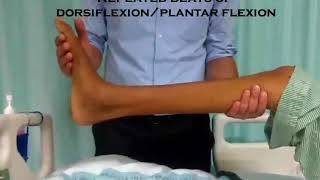 Eliciting ankle clonus