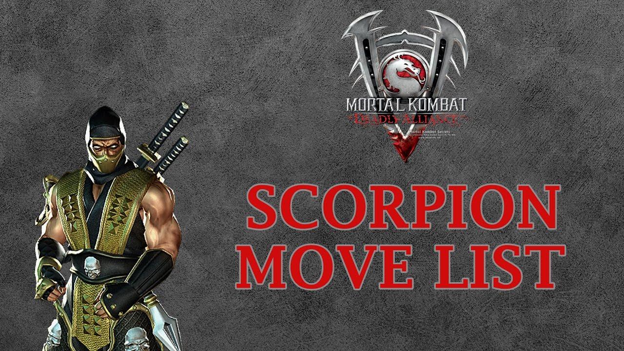 Mortal Kombat Deadly Alliance - Scorpion Move List