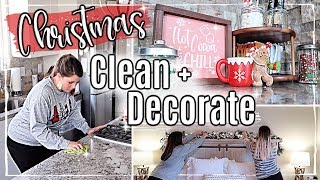 NEW!✨CHRISTMAS CLEAN + DECORATE WITH ME 2019 🎄 HOT COCOA BAR + ROOM MAKEOVER :: CHRISTMAS HOME TOUR