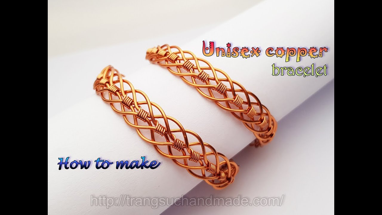 Uni Braided Copper Bracelet